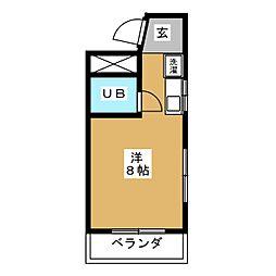 浅井コーポII[4階]の間取り