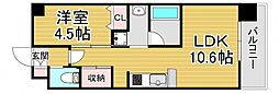 PHOENIX Clove Tomoi 7階1LDKの間取り