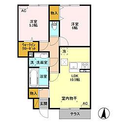 (仮)ウィット高井町 B[103号室]の間取り