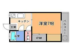 栃木県宇都宮市陽東2丁目の賃貸アパートの間取り