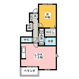 ラメールI・II[1階]の間取り