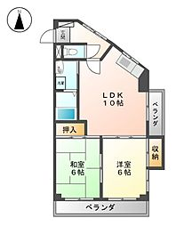 レジデンス落合[6階]の間取り