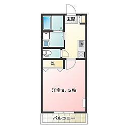 MKマンション 3階1DKの間取り
