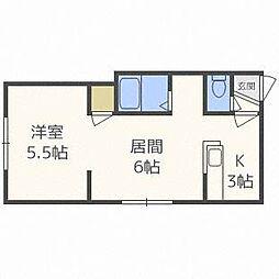 KIRAMECKパークサイド3号館[2階]の間取り