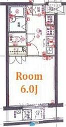 クレイシア北新宿[103号室]の間取り