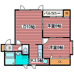 YS・COURT月寒[2階]の間取り