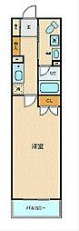 ブライトヒルレジデンス横浜 8階1Kの間取り