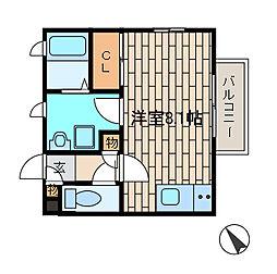 サニープルメリア[2階]の間取り