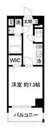 近鉄京都線 東寺駅 徒歩9分の賃貸マンション 7階1Kの間取り