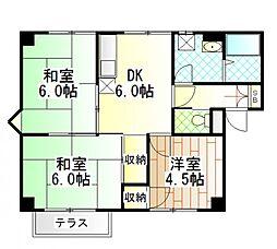 東京都町田市金井6丁目の賃貸アパートの間取り