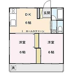 大山コーポ[2階]の間取り