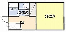 ファミーユ吉野[103号室]の間取り