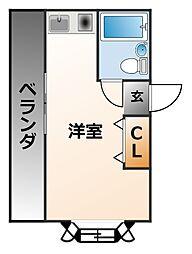 ロイヤルスポット・ミツワ[5階]の間取り