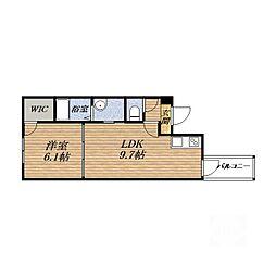 くすのきアパートメントI[1階]の間取り