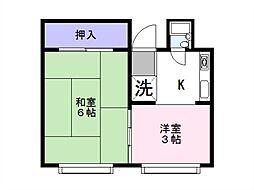 林ビル[3階号室]の間取り
