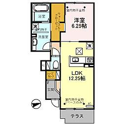 (仮)D-room三馬[102号室]の間取り