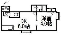 パセリーナ円山B棟[102号室]の間取り