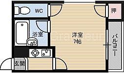 アーバン都島[3階]の間取り