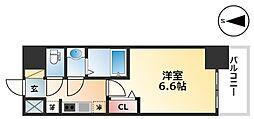 エステムコート名古屋グロース 10階1Kの間取り