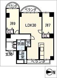 シティアーク徳川[9階]の間取り