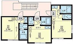 ユナイト 鶴見ジュメイラ[1階]の間取り