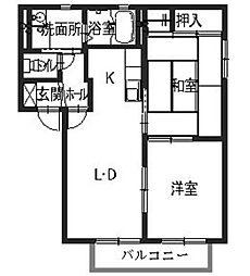 ShaMaison宗(シャーメゾン宗)[201号室]の間取り