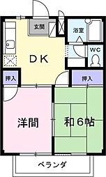 埼玉県川越市大字今成3丁目の賃貸アパートの間取り