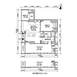 東京メトロ有楽町線 辰巳駅 徒歩9分の賃貸マンション 10階2SLDKの間取り