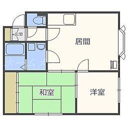 北海道札幌市東区北三十二条東5丁目の賃貸アパートの間取り