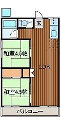 コーポ千代田[2階]の間取り