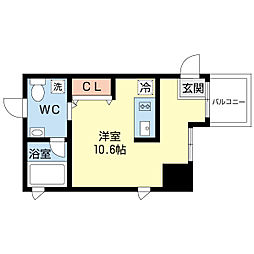 KW RESIDENCE 堺筋本町[2階]の間取り