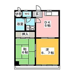 佐川ビル[3階]の間取り