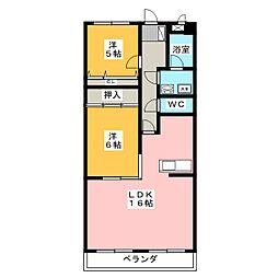 ベルハイツ司[3階]の間取り