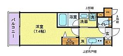 JR山手線 品川駅 徒歩9分の賃貸マンション 1階1Kの間取り