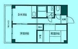 ムサシホームズ[3階]の間取り