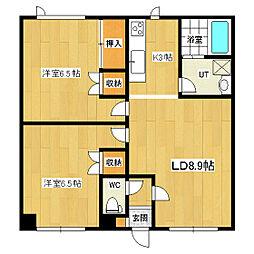 ファミーユIKUMI[2-A号室]の間取り