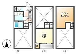 中村ミッドタワー31F[2階]の間取り