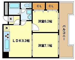 ドムス東梅田[2階]の間取り