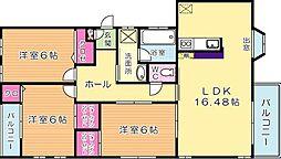 福岡県北九州市門司区柳町3丁目の賃貸アパートの間取り