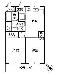 ハイツイノキ[204号室]の間取り
