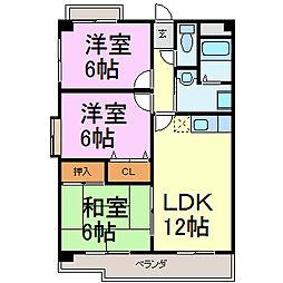 カサフェリスIII[2階]の間取り