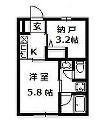 大阪府和泉市唐国町3丁目の賃貸アパートの間取り