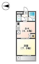 フォレスト萩野通[2階]の間取り