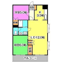 メゾンルーラル[2階]の間取り