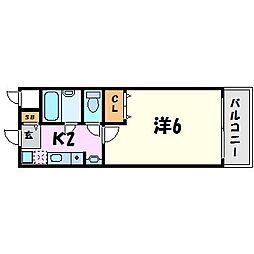 ステラハウス12[3階]の間取り