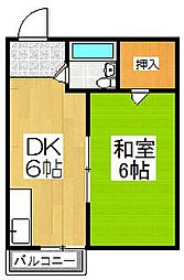 シャロン五十川3[4階]の間取り