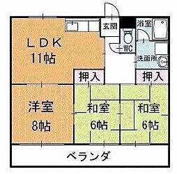 リバータウン蔵前 2階[205号室]の間取り
