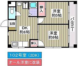 内野パークマンション[102号室]の間取り