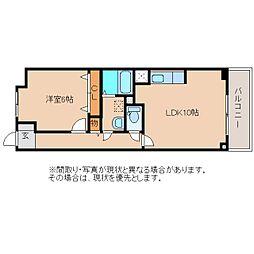 静岡県静岡市清水区船越の賃貸マンションの間取り
