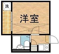 東京都板橋区志村2丁目の賃貸アパートの間取り